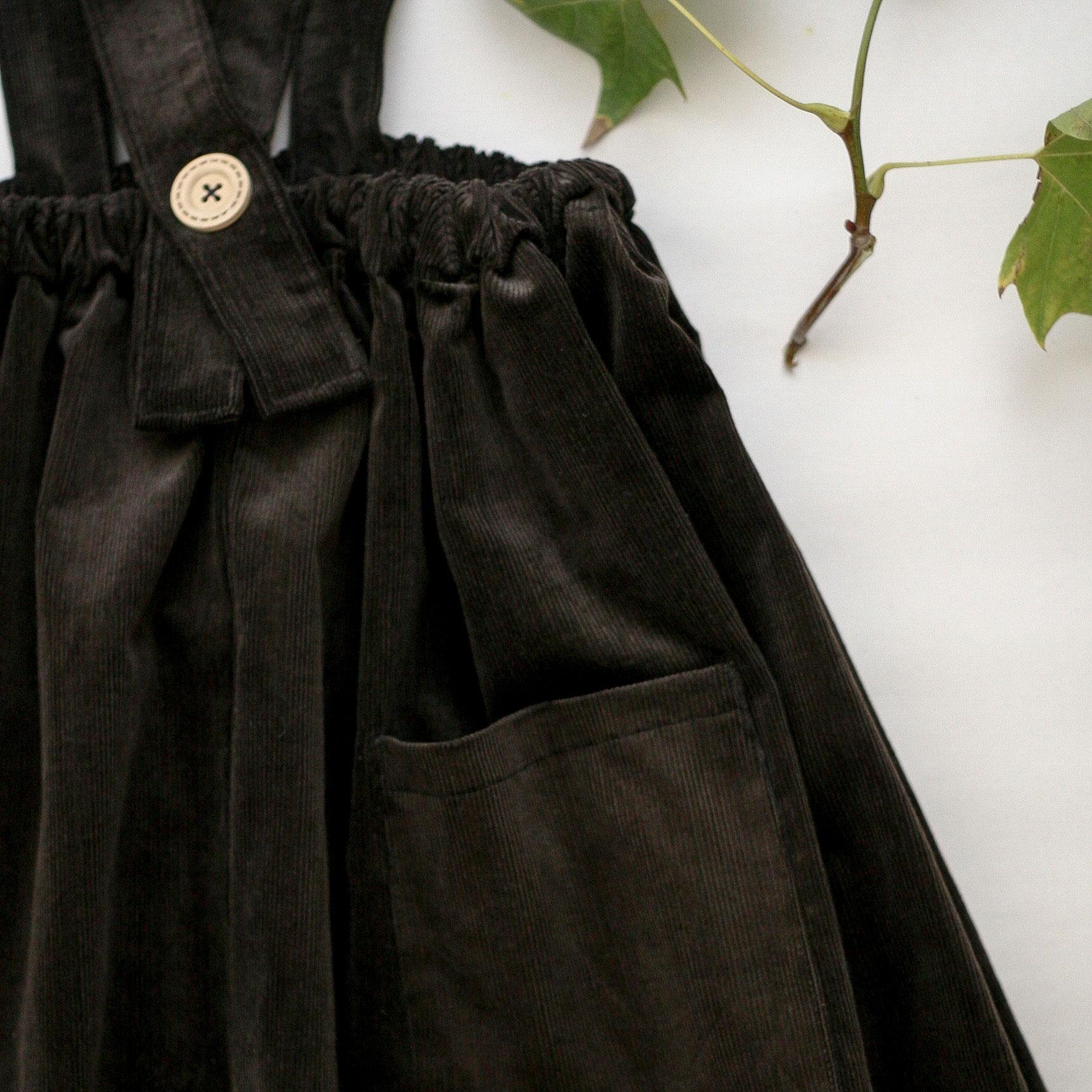 sukně manšestrová hnědá