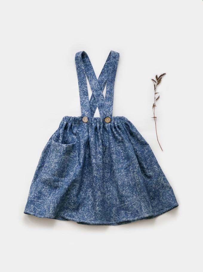 sukně s kšandami plísňová