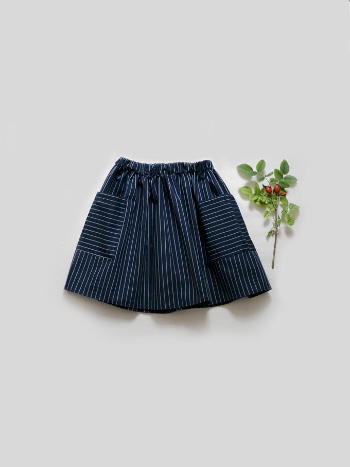sukně s pruhem tmavá