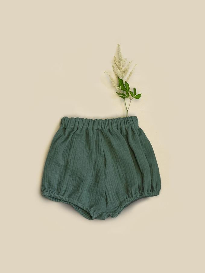 Mušelínové kraťasy zelené