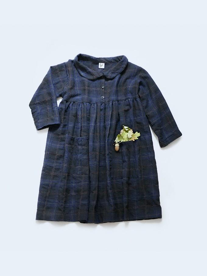 šaty kostkované s límečkem