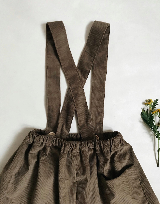 Manšestrová sukně světle hnědá