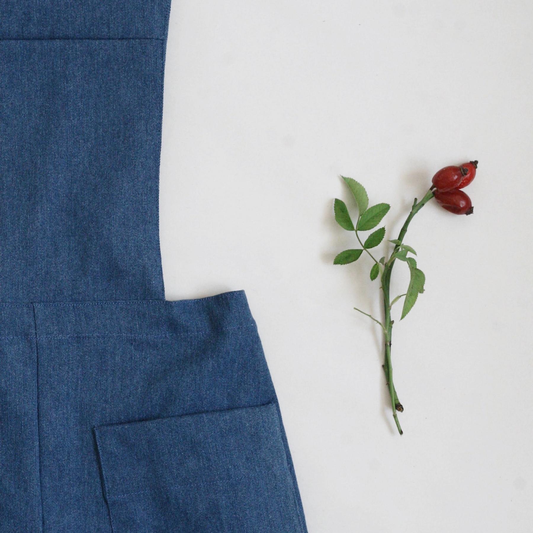 Denimové kalhoty s laclem